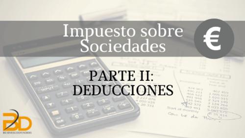 Deducciones en Impuesto de Sociedades